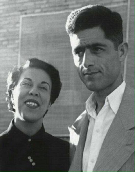 جلال آل احمد و همسرش سیمین دانشور