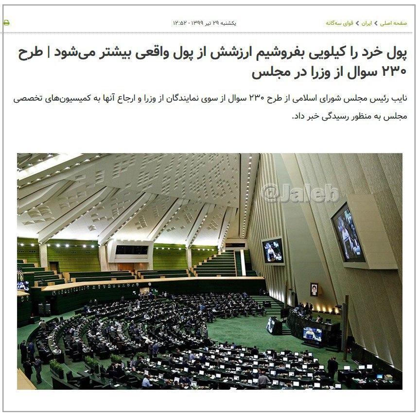 کاهش ارزش پول ایران