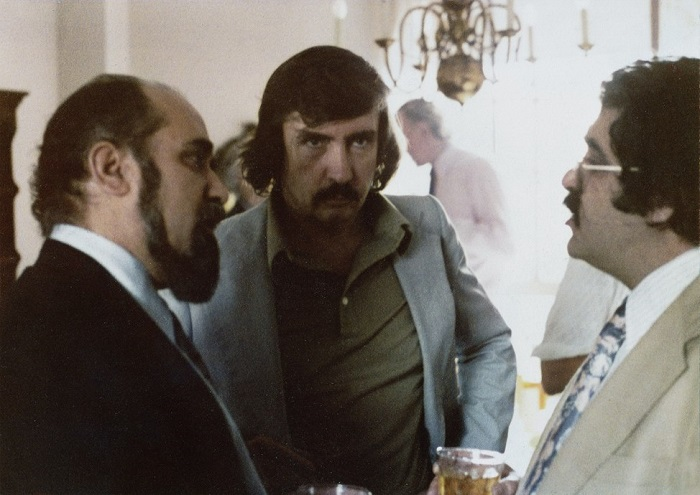 غلامحسین ساعدی همراه با ادوارد اَلبی و رضا براهنی سال ۱۹۷۸