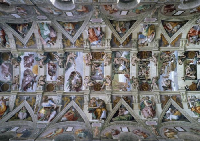 سقف کلیسای سیستین اثر میکل آنژ