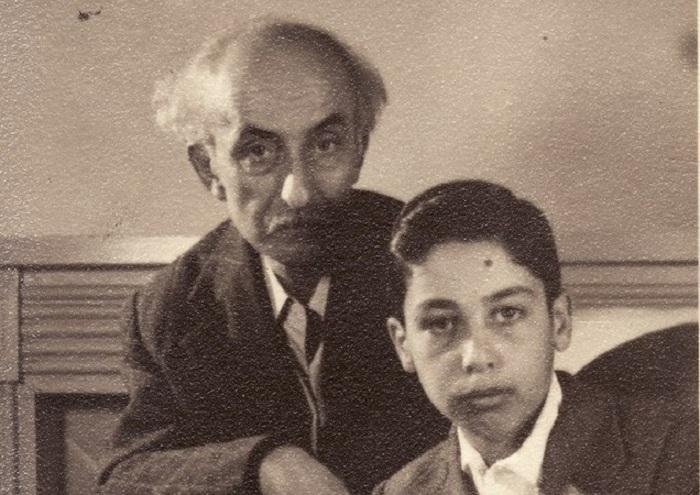 نیما یوشیج و فرزندش شراگیم