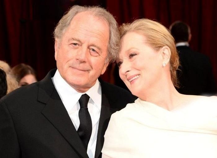 مریل استریپ در کنار همسرش
