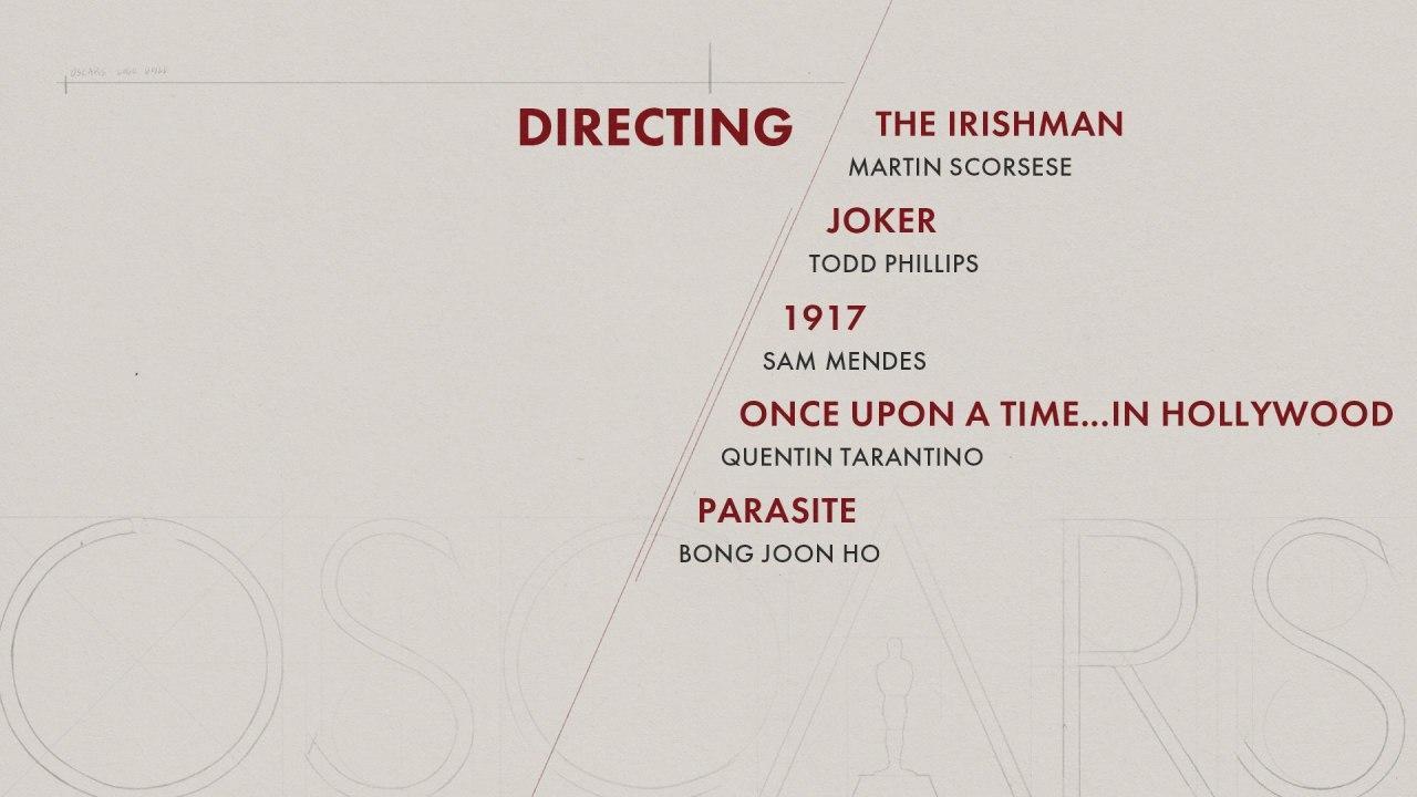 نامزدهای بهترین کارگردان اسکار 2020