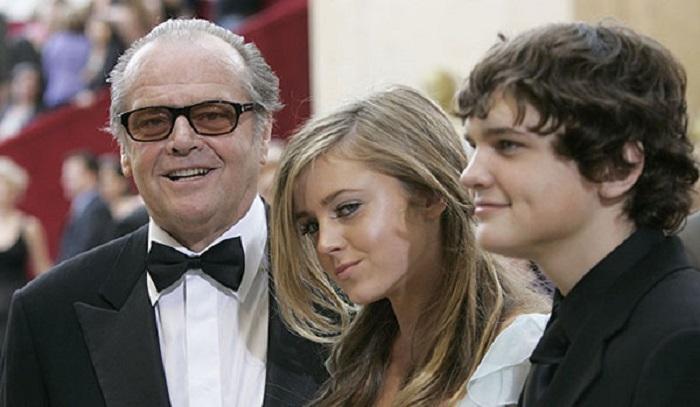 جک نیکلسون و فرزندانش لورین و ریموند