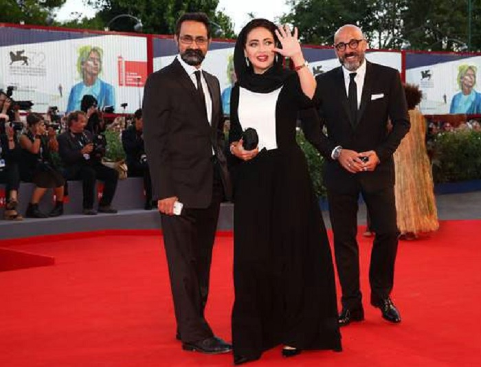 نیکی کریمی در اختتامیه جشنواره ونیز
