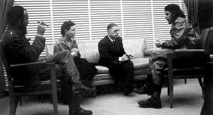 ژان پل سارتر در دیدار با چه گوارا