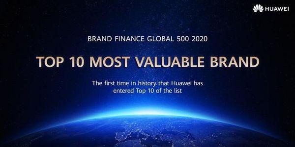 هوآوی در لیست ۱۰ برند با ارزش جهان