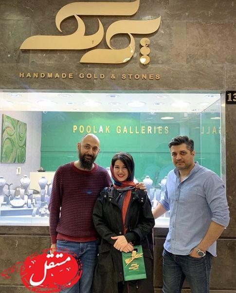 خواهر شاهرخ استخری در فروشگاه بازیگر مشهور + عکس