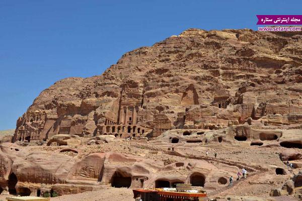 پترا، اردن، ایندیانا جونز، معان اردن، شهر گل رز، خاک قرمز، خاک رس