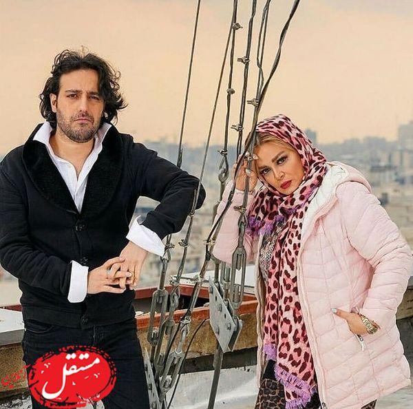 کشتی سواری بهاره رهنما با کاوه خان + عکس