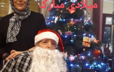 سال نو میلادی خانم بازیگر و همسرش + عکس