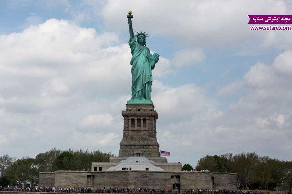 مجسمه آزادی، الهه رومی، مشعل آزادی، روز اعلام استقلال آمریکا