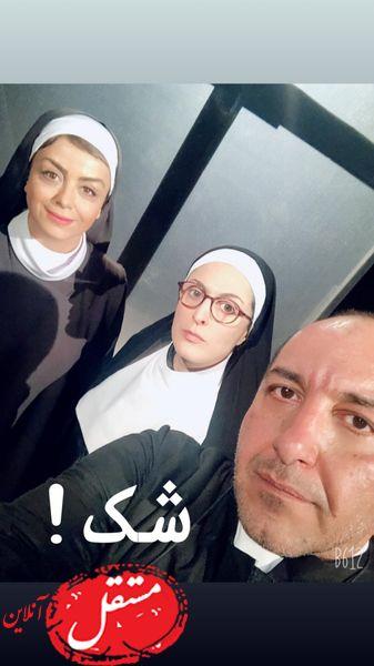 بهناز جعفری در لباس راهبه ها + عکس