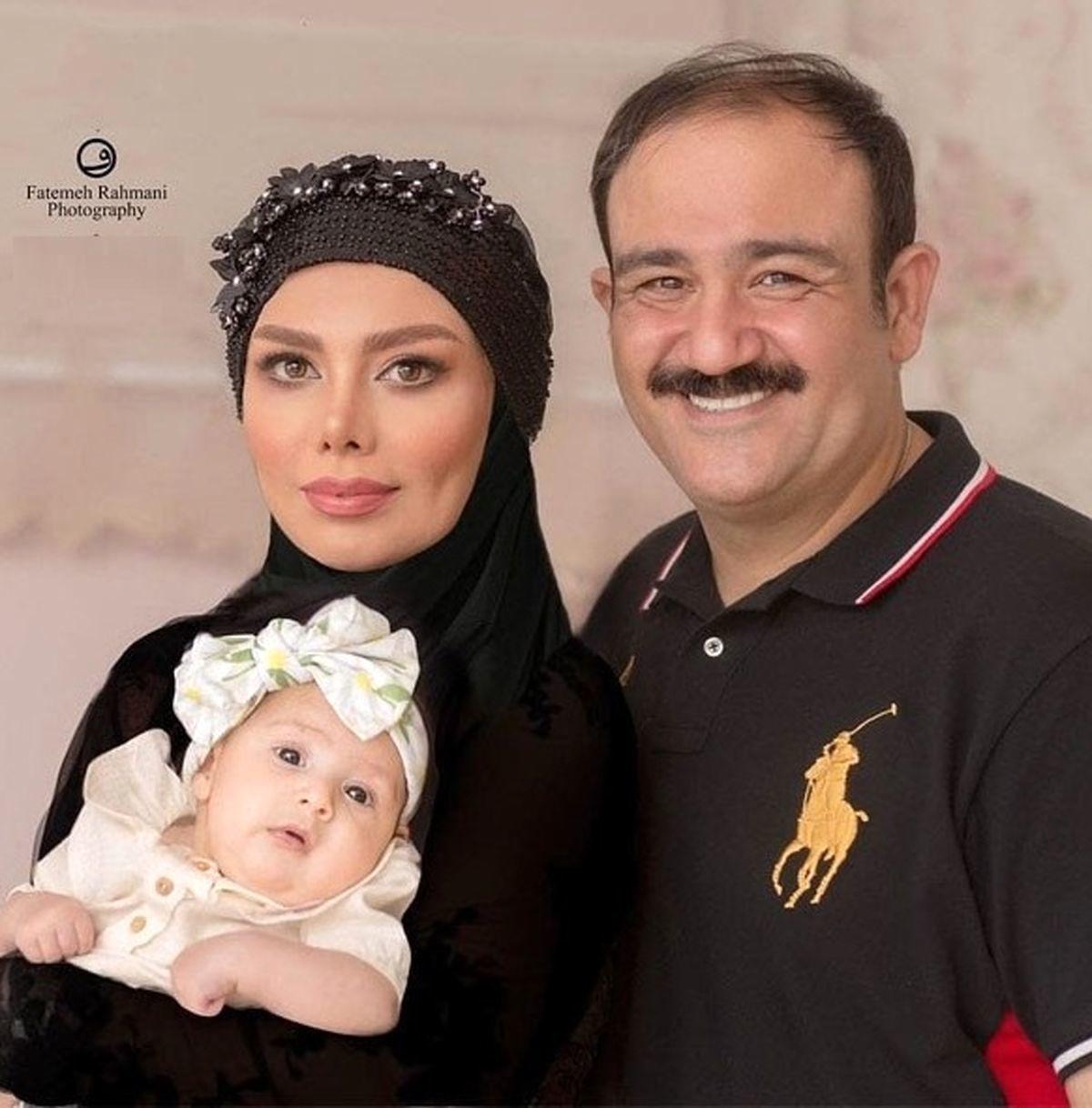 مهران غفوریان  عکسهای دیده نشده با همسرش در تولد لاکچری هانا ...
