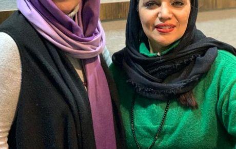 الهام پاوه نژاد در کنار دوست گوینده اش + عکس