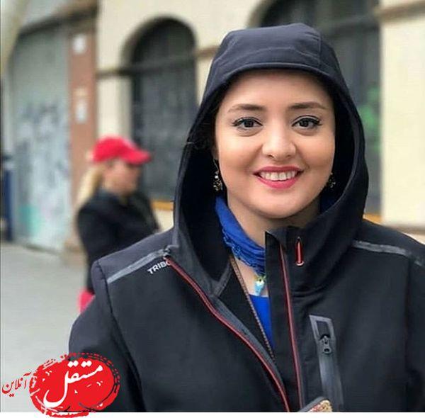 پوشش نرگس محمدی در خارج از کشور + عکس