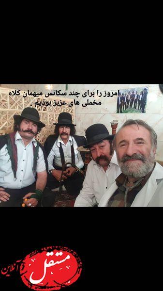 مهران رجبی با کلاه مخملی ها + عکس