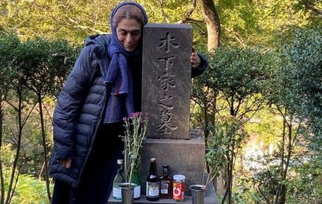 بهناز جعفری بر سر مزار کارگردان ژاپنی + عکس
