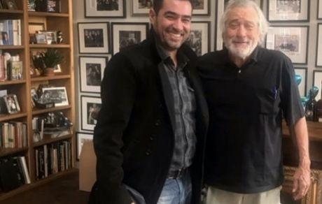 شهاب حسینی در کنار استادش + عکس