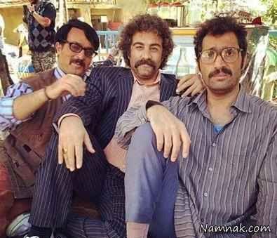 هادی کاظمی و محسن تنابنده و احمد مهران فر در ایران برگر