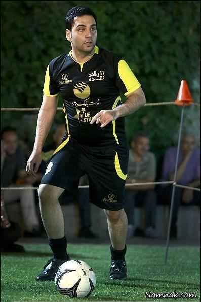 احسان علیخانی با لباس ورزشی