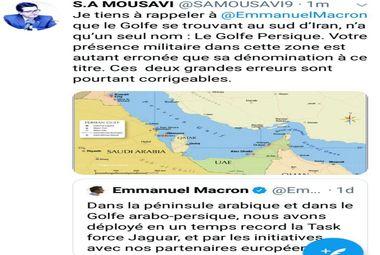خطاب به رئیس جمهور فرانسه: نامش خلیج همیشه فارس است