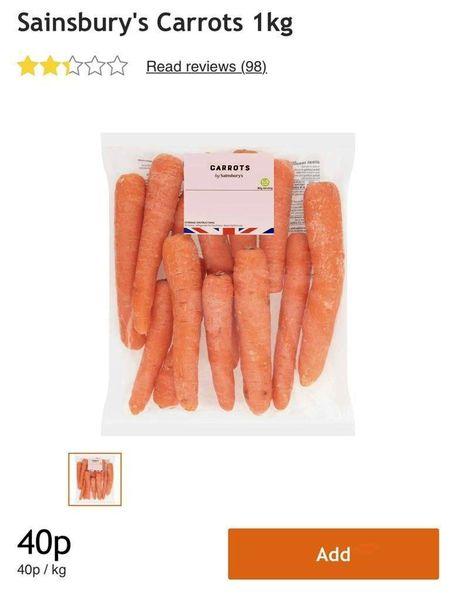 قیمت هویج در تهران تقریبا دو برابر لندن!