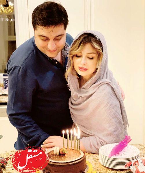 سالگرد ازدواج نیوشا ضیغمی و همسرش + عکس