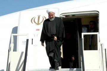 روحانی وارد استان سیستان و بلوچستان شد