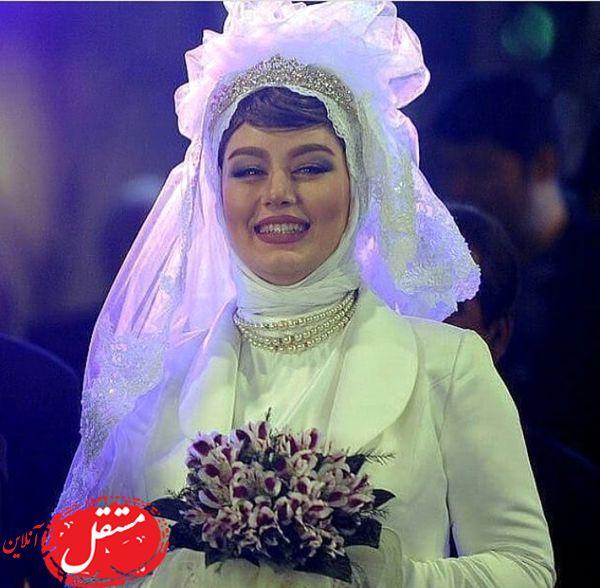 سحر قریشی در لباس عروسش + عکس