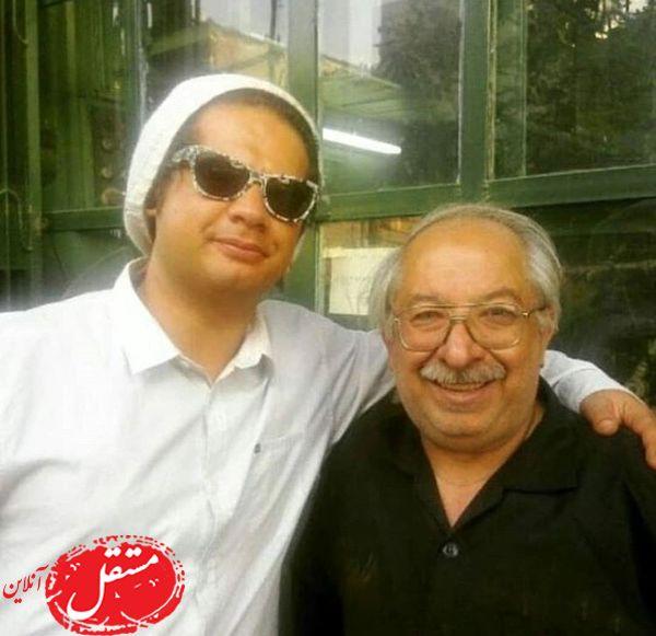 علی صادقی و پدرش + عکس