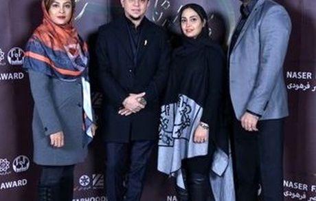 عکسی از حدیثه تهرانی و همسرش