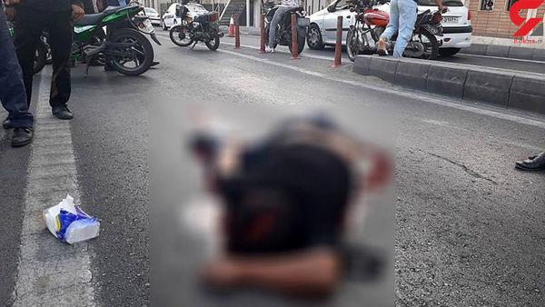 3 عکس از صحنه کشته شدن جوان تهرانی / جلوی چشم مردم رخ داد