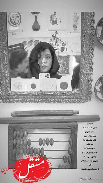 همسر شهاب حسینی در آیینه + عکس