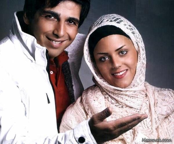 حمید گودرزی در کنار همسرش