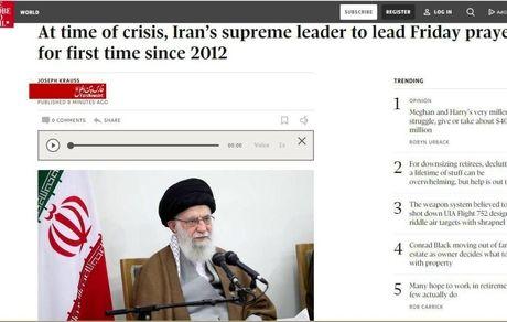 رهبر معظم ایران در نماز جمعه سال 2012 اسرائیل را غده سرطانی خواند