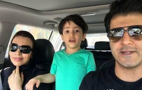 هومن حاجی عبداللهی و همسر و پسرش + عکس