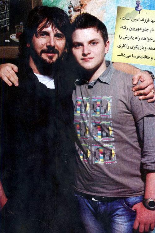 عکس/ امین حیایی و پسرش