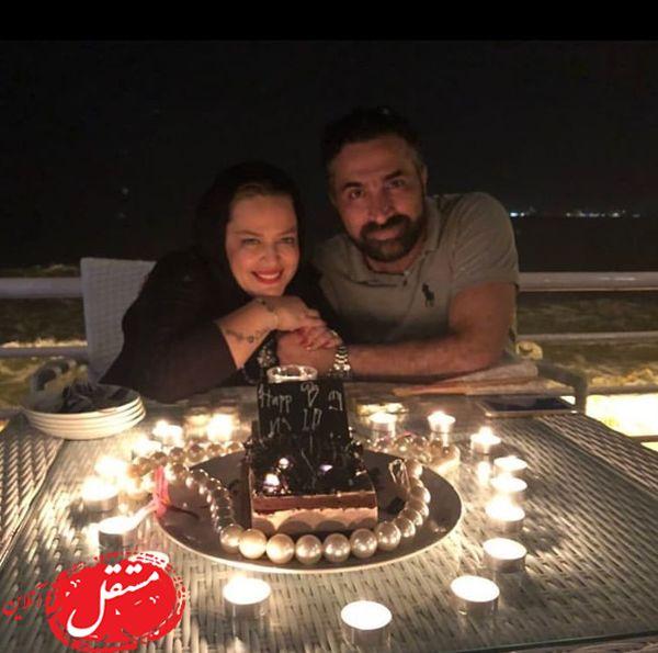 شب رومانتیک بهاره رهنما و همسرش + عکس
