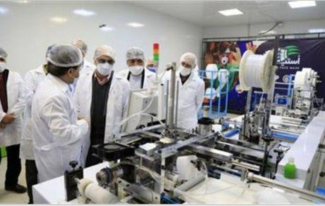 افتتاح خط تمام اتوماتیک تولید ماسک پیشرفتۀ N95 با سرمایهگذاری فولاد مبارکه