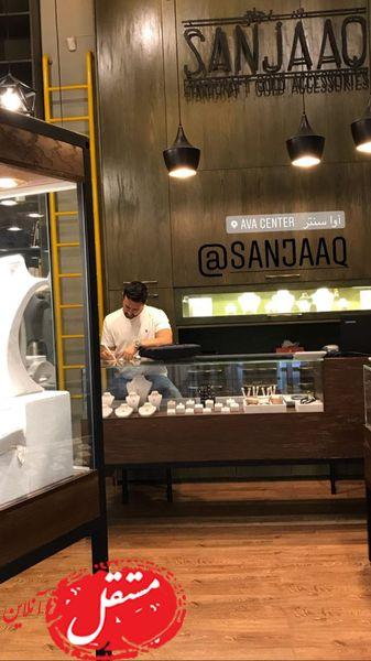 شاهرخ استخری در محل کارش + عکس