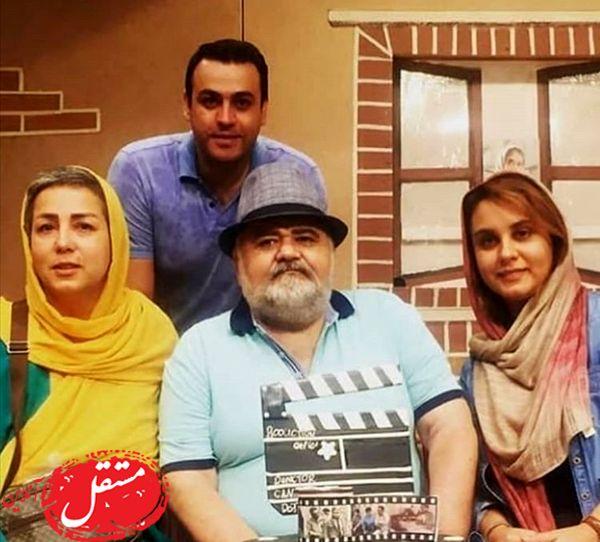اکبری عبدی در کنار خانواده اش + عکس