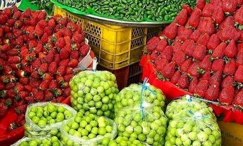 قیمت نهایی توت فرنگی و گوجه سبز