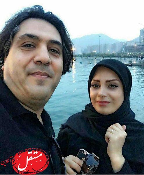 گردش خانم مجری سابق با همسرش + عکس