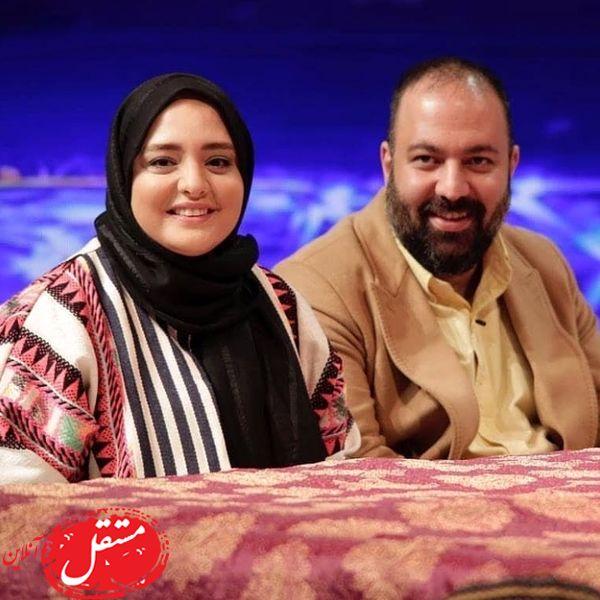 حضور ستایش و شوهرش در برنامه تلویزیونی + عکس