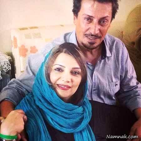 الهام پاوه نژاد و همسرش