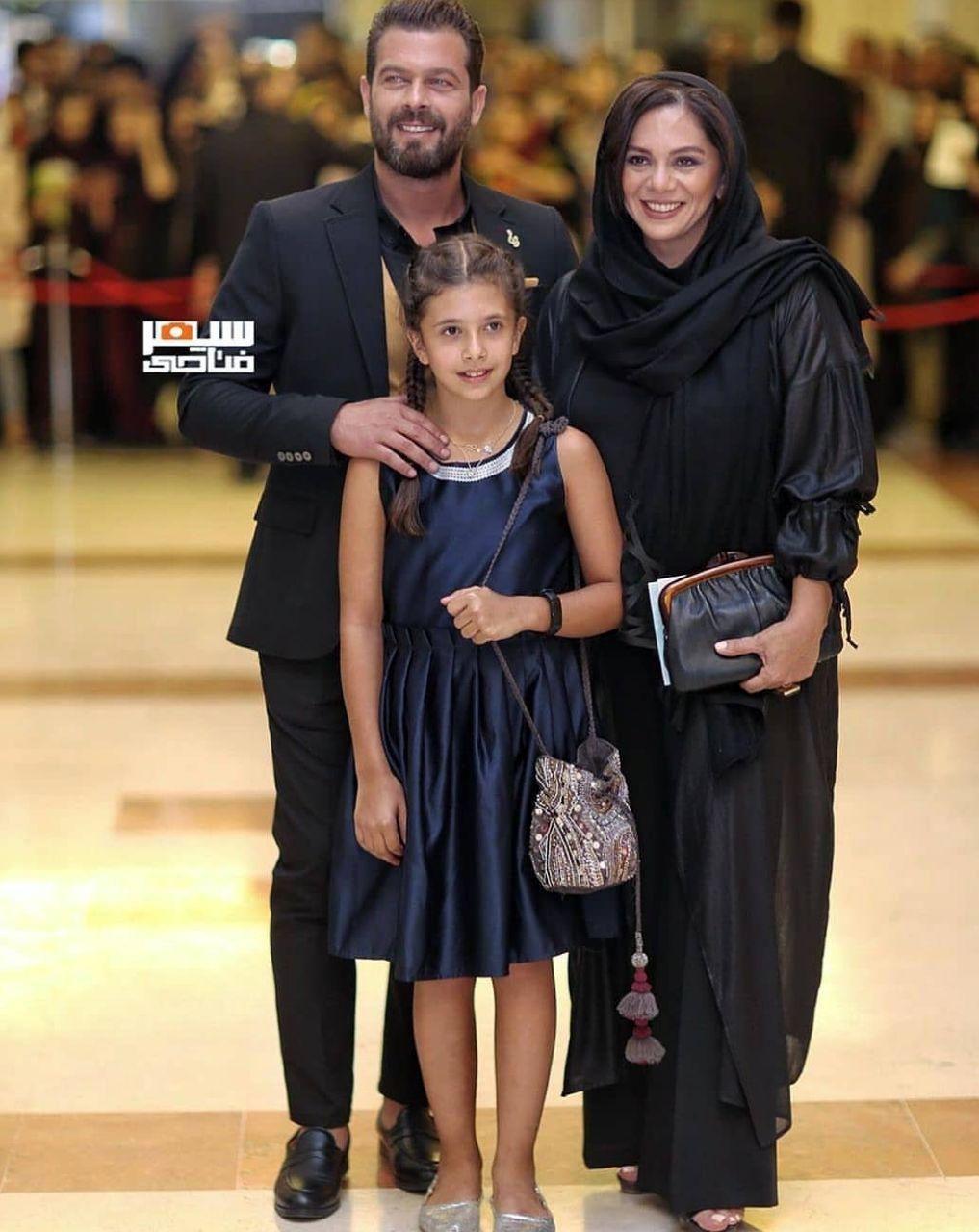 پژمان بازغی و خانواده اش در جشن حافظ (عکس)