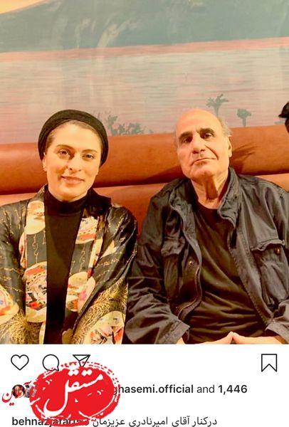بهناز جعفری در کنار فیلمساز مشهور + عکس