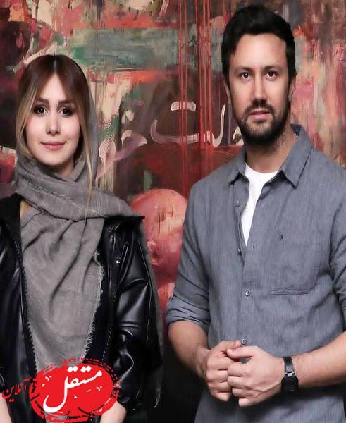 سلفی عاشقانه شاهرخ استخری و همسرش در بلژیک + عکس