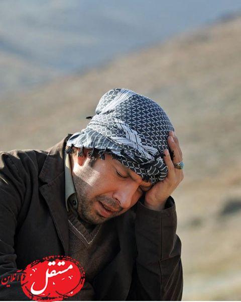 ناراحتی آقای بازیگر در کوهستان + عکس